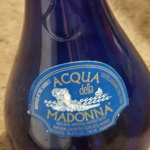 Other - Vintage colbalt blue acqua della madonna bottle